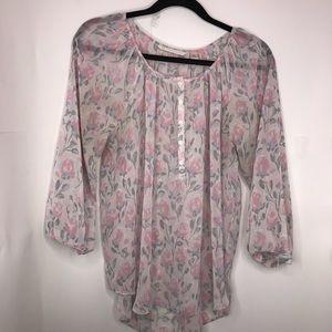 LC Lauren Conrad | Rose Sheer Floral Print